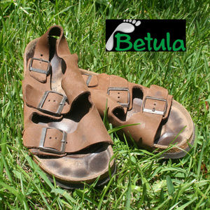Betula Birkenstock Sandals Brown Suede Size 10